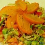 Самый новогодний салат. Рецепт с хурмой