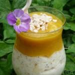 Банановое мороженое с кремом из манго — готовим десерт для любимых!