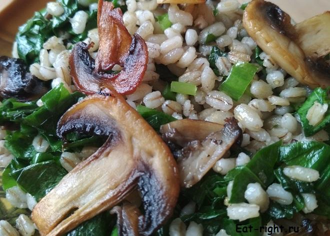 рецепт перловки с грибами