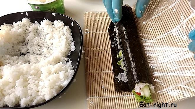Фото рецепт роллов в домашних условиях